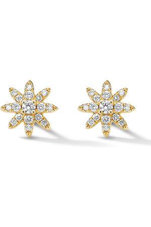David Yurman Pendientes Starburst en oro amarillo de 18kt con diamantes