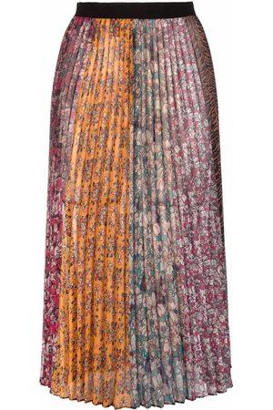 Pinko Falda midi plisada con estampado floral
