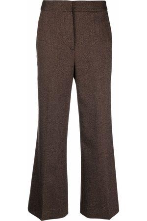 Victoria Victoria Beckham Pantalones de talle alto acampanados