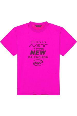 Balenciaga Camiseta con eslogan estampado