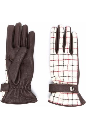 Maison Margiela Mujer Guantes - Guantes a cuadros Tattersall