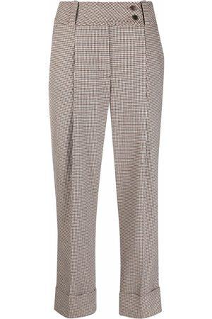 ELEVENTY Mujer Pantalones capri y midi - Pantalones capri a cuadros