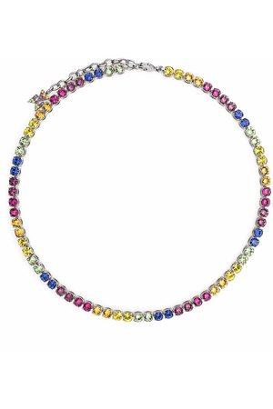 Amina Muaddi Collar Tennis Rainbow