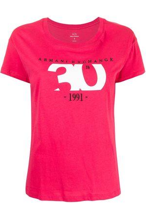 Armani Camiseta con cuello redondo y logo