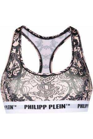 Philipp Plein Sujetador con estampado New Baroque
