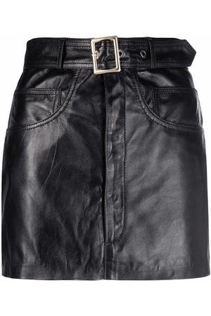 Manokhi Minifalda de cuero