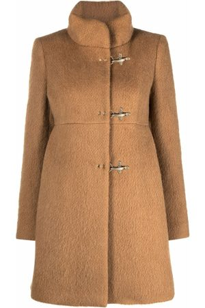 FAY Toggle-fastening high-neck short coat