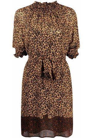 Pinko Vestido corto con estampado de leopardo