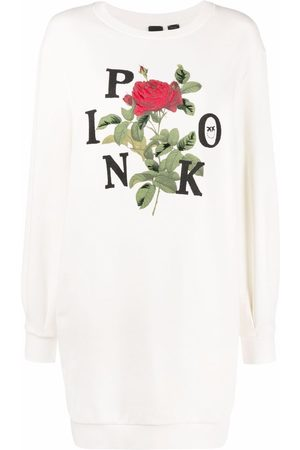 Pinko Vestido estilo sudadera con logo