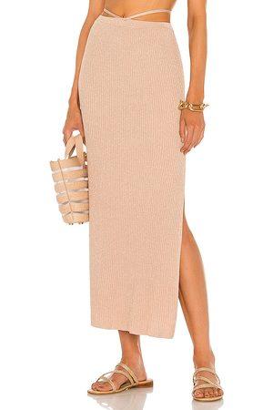 DEVON WINDSOR Falda midi sage en color rose talla L en - Rose. Talla L (también en XS, S, M, XL).