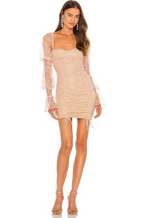 Michael Costello Minivestido isadora en color blush,nude talla L en - Blush,Nude. Talla L (también en XXS, XS, S, M, XL).
