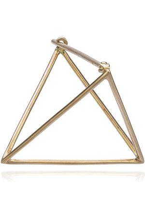 SHIHARA Mujer Pendientes - Pendiente triangular de 25mm
