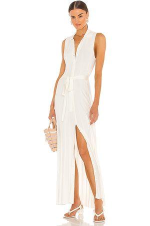 DEVON WINDSOR Vestido midi ophelia en color blanco talla L en - White. Talla L (también en XS, S, M, XL).