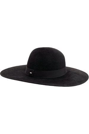 Saint Laurent Hombre Sombreros - | Hombre Sombrero Asimétrico De Fieltro Con Banda 57