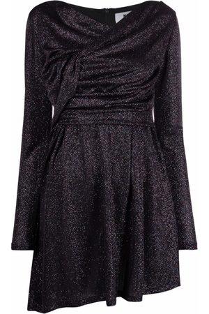Msgm Gem-embellished twist-front skater dress
