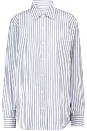 DRIES VAN NOTEN Camisa de popelín de algodón a rayas