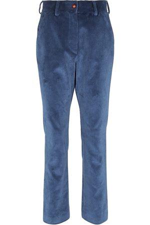 Blazé Milano Mujer Pantalones de talle alto - Pantalones ajustados de pana tiro alto