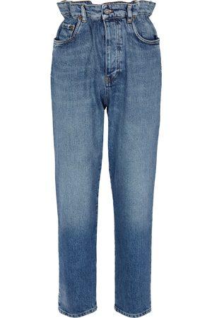 Miu Miu Mujer Cintura alta - Jeans ajustados paperbag