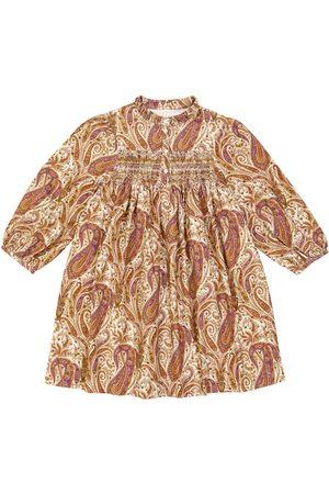 BONPOINT Vestido Tamsin de algodón con estampado paisley