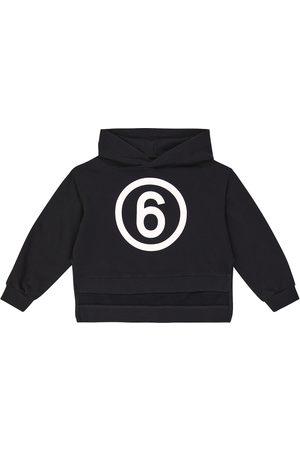 MM6 Maison Margiela Kids Niña Sudaderas - Sudadera con capucha de algodón con logo