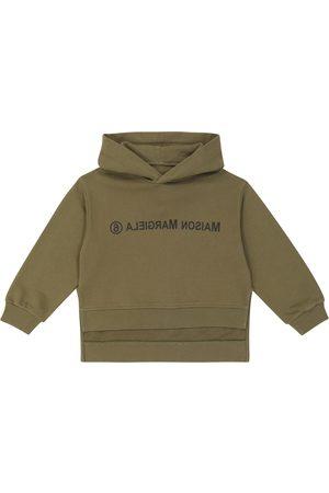 MM6 Maison Margiela Kids Sudadera con capucha de algodón con logo