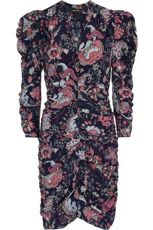 Isabel Marant Vestido corto Celina de seda elástica floral