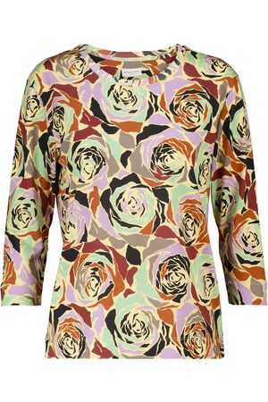DRIES VAN NOTEN Camiseta de punto de algodón floral