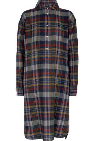 Polo Ralph Lauren Vestido midi de algodón a cuadros