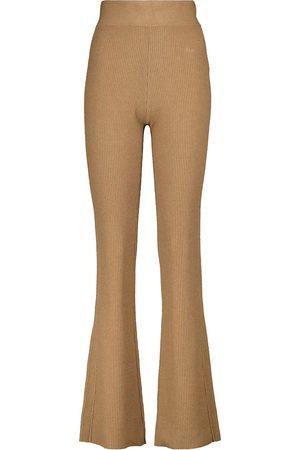 Frame Pantalones mezcla de algodón acanalados