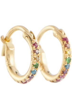 Ileana Makri Argollas de oro de 18 ct con diamantes