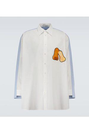 J.W.Anderson Camisa bicolor de algodón oversized