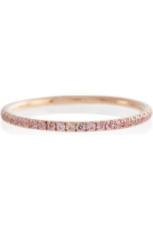 Ileana Makri Anillo de oro rosa de 18 ct con zafiro