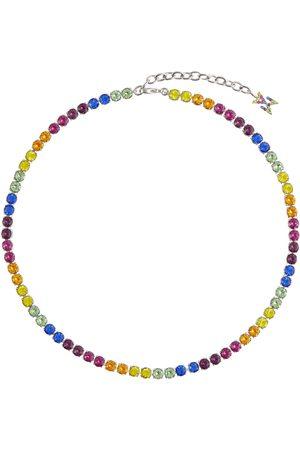 Amina Muaddi Collar Tennis adornado con cristales