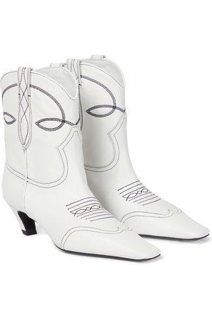 Khaite Botas cowboy The Dallas de piel