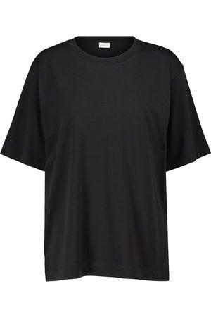 DRIES VAN NOTEN Camiseta en punto fino de algodón