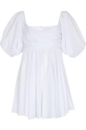 Caroline Constas Vestido corto Brie en mezcla de algodón