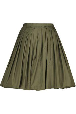 Alaïa Minifalda de popelín en mezcla de algodón