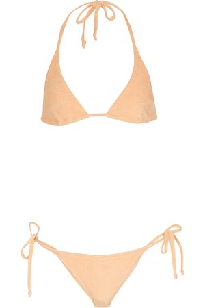 Lisa Marie Fernandez Mujer Bikinis - Bikini Pamela de algodón elastizado