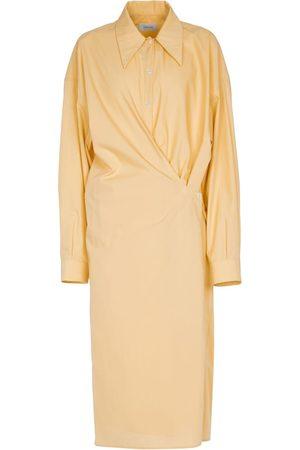 LEMAIRE Mujer Casual - Vestido camisero wrap de algodón
