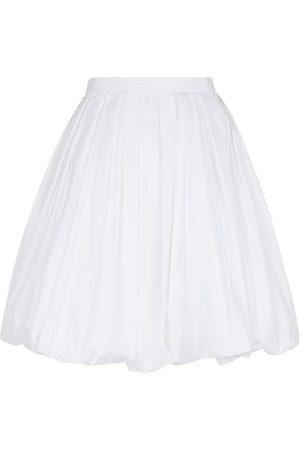 Alaïa Mujer Minifaldas - Minifalda de popelín en mezcla de algodón
