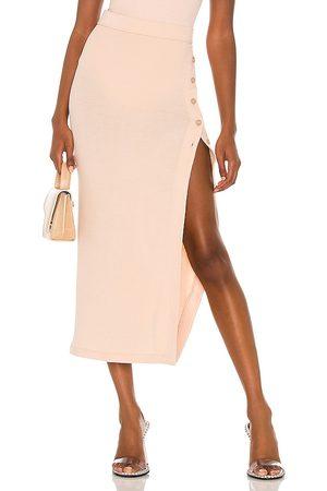Alix NYC Falda fordham en color nude talla L en - Nude. Talla L (también en XS, S, M).