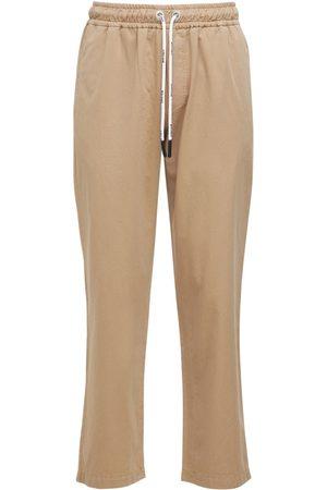 Palm Angels   Hombre Pantalones Chinos De Algodón Con Logo /blanco S