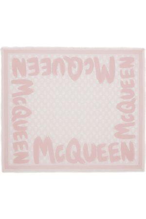 Alexander McQueen | Mujer Bufanda Biker Con Logo Graffiti /ivory Unique