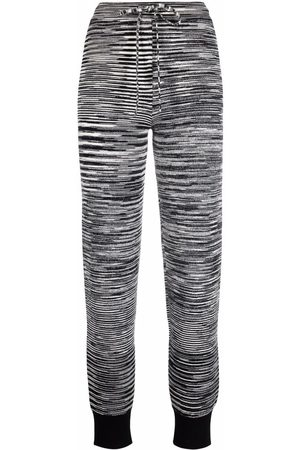 Missoni Pantalones joggers de punto a rayas