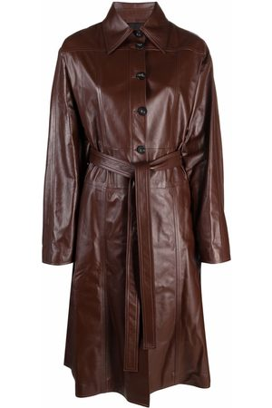 AMBUSH LEATHER TRENCH DRESS DEEP MAHOGANY NO CO