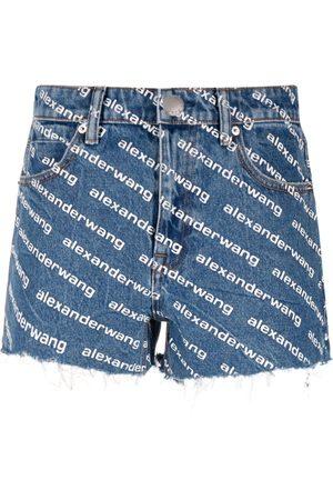 Alexander Wang Mujer Vaqueros - Pantalones vaqueros cortos con logo
