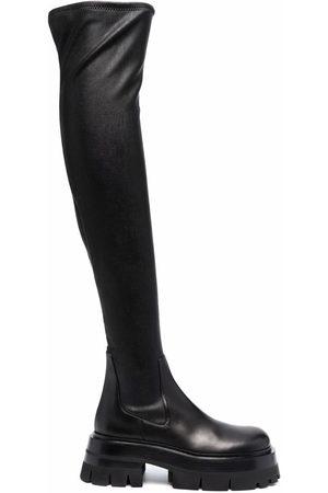 VERSACE Botas de piel por encima de la rodilla