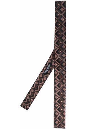 Dolce & Gabbana Corbata de seda con estampado geométrico