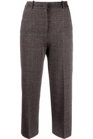 Pinko Pantalones con cuadros príncipe de Gales