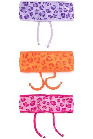 AMIR SLAMA Pack de tres cintas para el pelo con motivo de leopardo